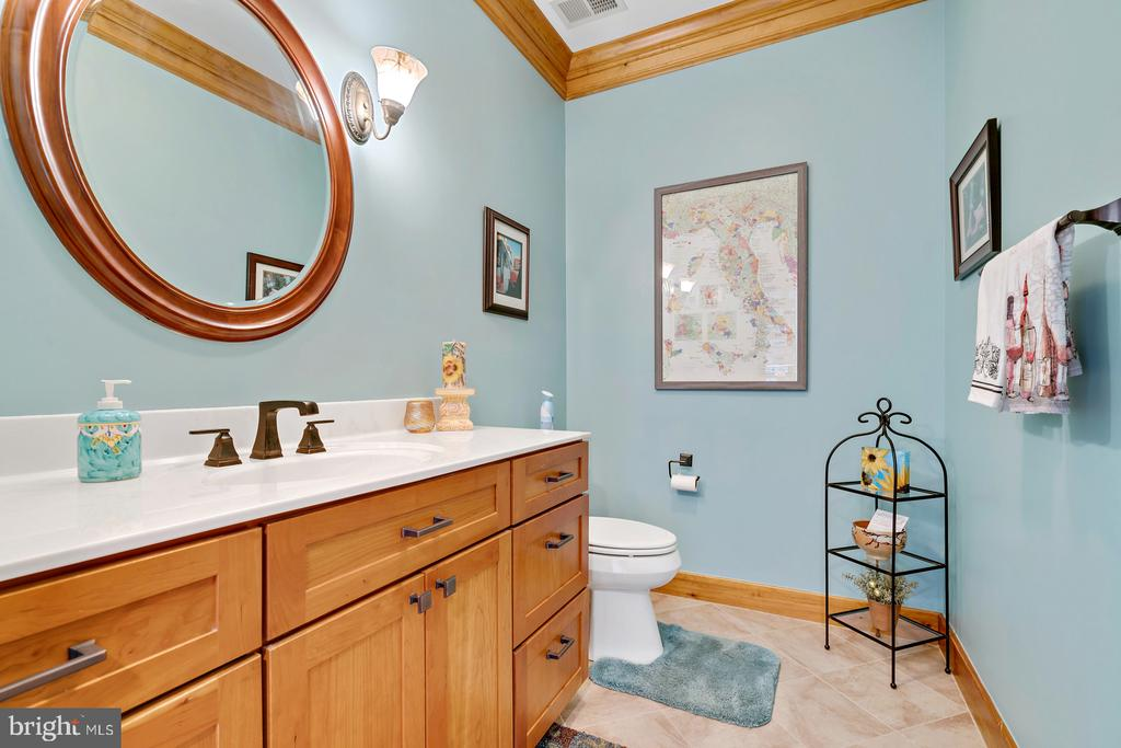 Updated Powder room w/ceramic tile floors - 38581 DAYMONT LN, WATERFORD
