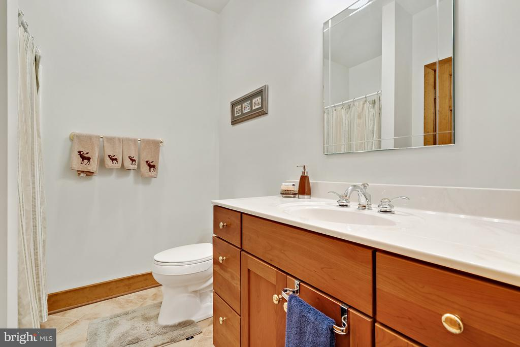 Full bath off Family/Guest room on main level - 38581 DAYMONT LN, WATERFORD
