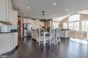 Gourmet Kitchen with Island Seating - 42231 AMBER MEADOWS LN, BRAMBLETON