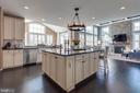 Gourmet Kitchen with Large Island - 42231 AMBER MEADOWS LN, BRAMBLETON