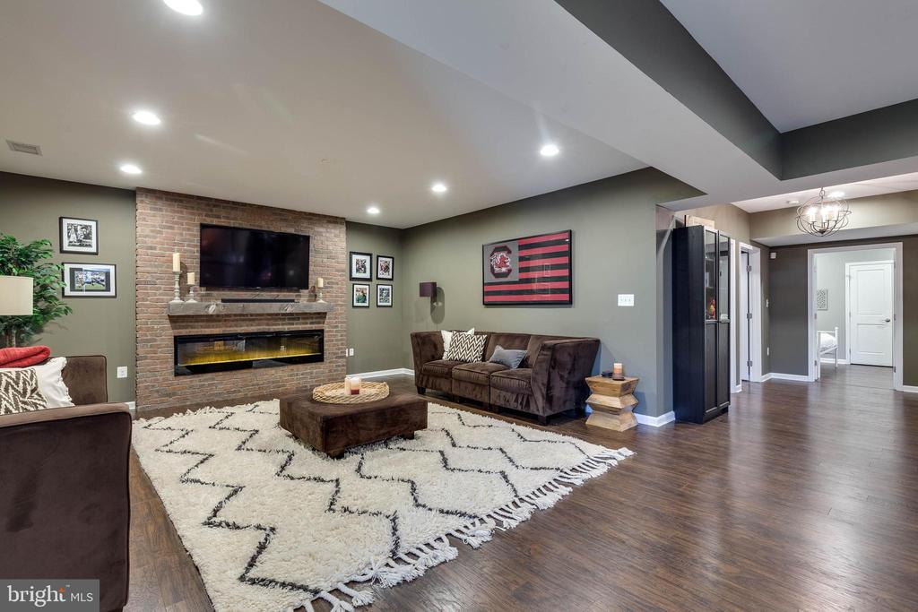 Rec Room with Gas Fireplace - 42231 AMBER MEADOWS LN, BRAMBLETON