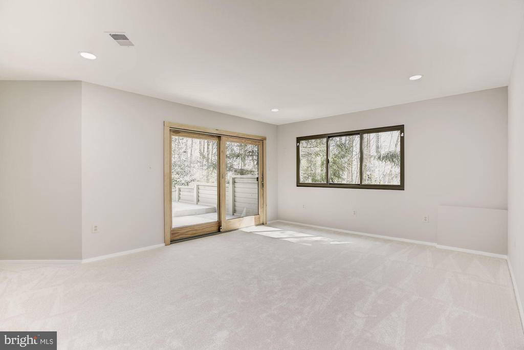 LOWER LEVEL WALK OUT LARGE REC ROOM - 11594 NEWPORT COVE LN, RESTON