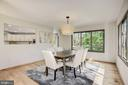 GENEROUS SIZED DINING ROOM W/ NEW HARDWOODS - 11594 NEWPORT COVE LN, RESTON