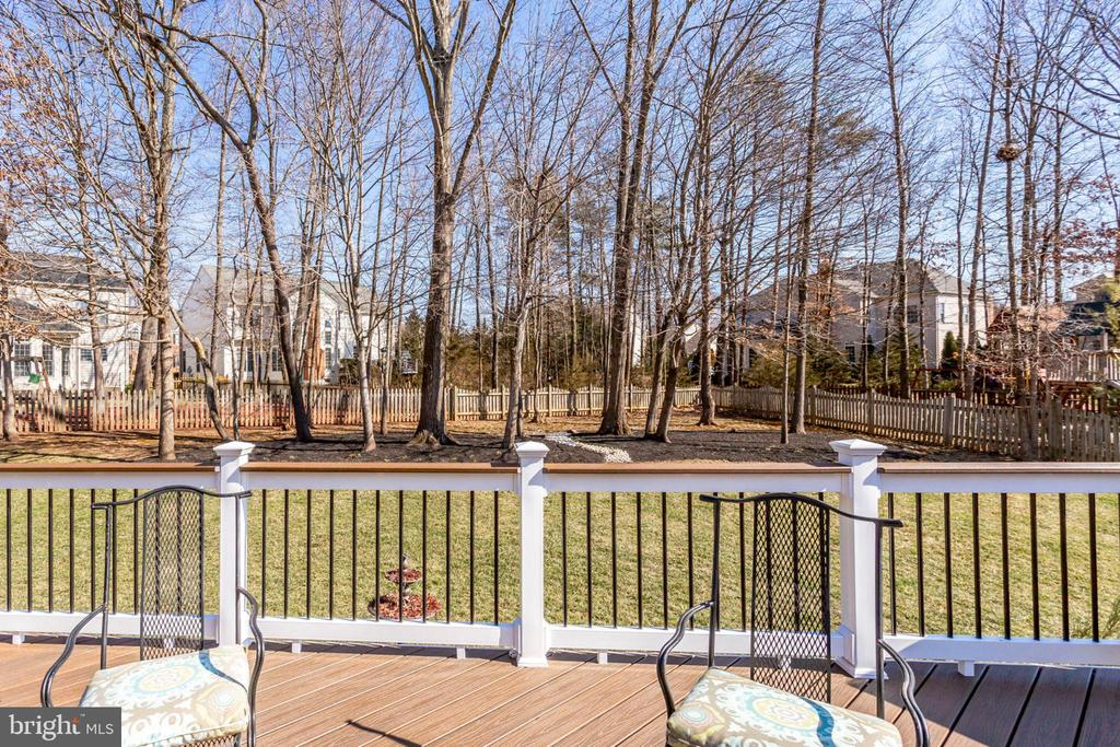 Fenced Backyard w/Grass and Trees - 26158 GLASGOW DR, CHANTILLY
