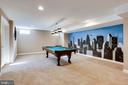 Large Recreation Room in Lower Level - 26158 GLASGOW DR, CHANTILLY
