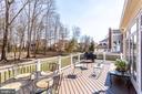 Large Trex Deck w/Stairs to Backyard - 26158 GLASGOW DR, CHANTILLY