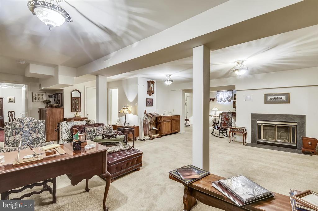 lower level family room - 4572 SHETLAND GREEN RD, ALEXANDRIA