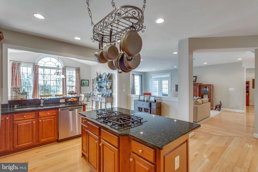 Gourmet kitchen w/island and SS appliances - 42760 RIDGEWAY DR, BROADLANDS