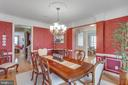 Separate Dining room w/chair,frame,crown molding - 42760 RIDGEWAY DR, BROADLANDS