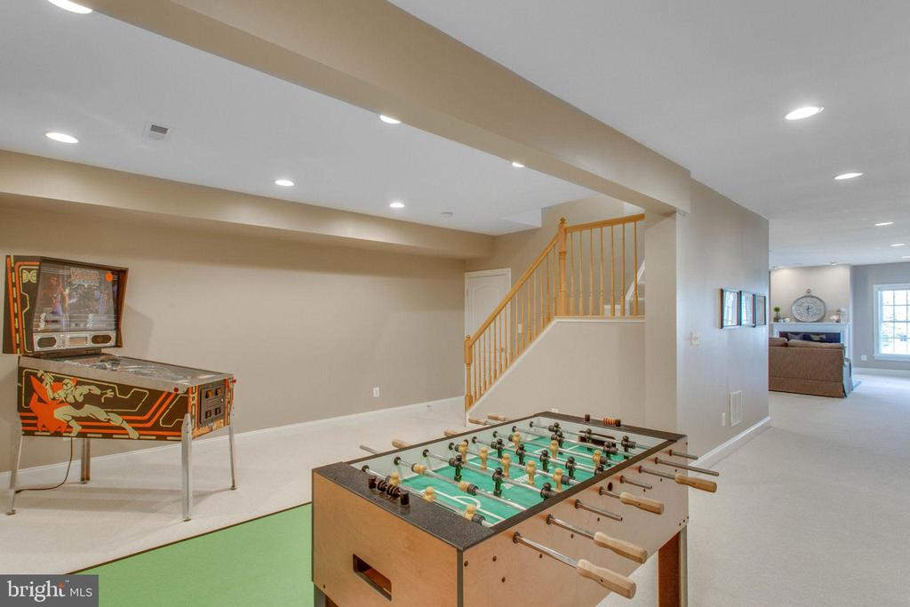 Game room in lower level. - 42760 RIDGEWAY DR, BROADLANDS