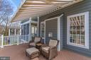 convenient Retractable awning for gorgeous deck - 42760 RIDGEWAY DR, BROADLANDS
