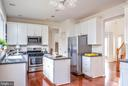Kitchen island offers additional prep space - 17 HEATHERBROOK LN, STAFFORD