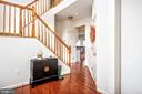 2 Level open foyer with hardwood flooring - 17 HEATHERBROOK LN, STAFFORD