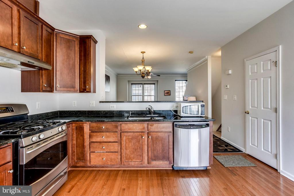 kitchen with stainless steel appliances - 25136 MONTEITH TER, CHANTILLY
