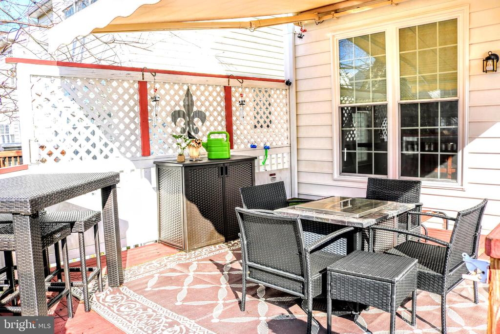 Deck with Electric Sun setter - 42713 CENTER ST, CHANTILLY