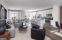 Worthington  Family Room, & Kitchen View - 23245 MILLTOWN KNOLL #103, ASHBURN