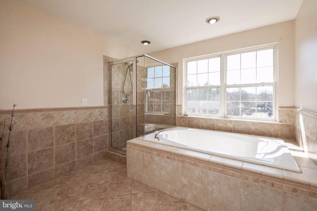Large sunken tub with separate shower. - 8153 SILVERBERRY WAY, VIENNA
