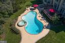 Drone - Rear Exterior With Stunning Pool & Hot Tub - 41244 GRENATA PRESERVE PL, LEESBURG