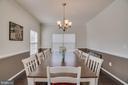 Formal Dining Room - 110 COTTAGE OAK DR, STAFFORD