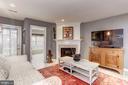 Cozy fireplace - 6393 HAWK VIEW LN, ALEXANDRIA