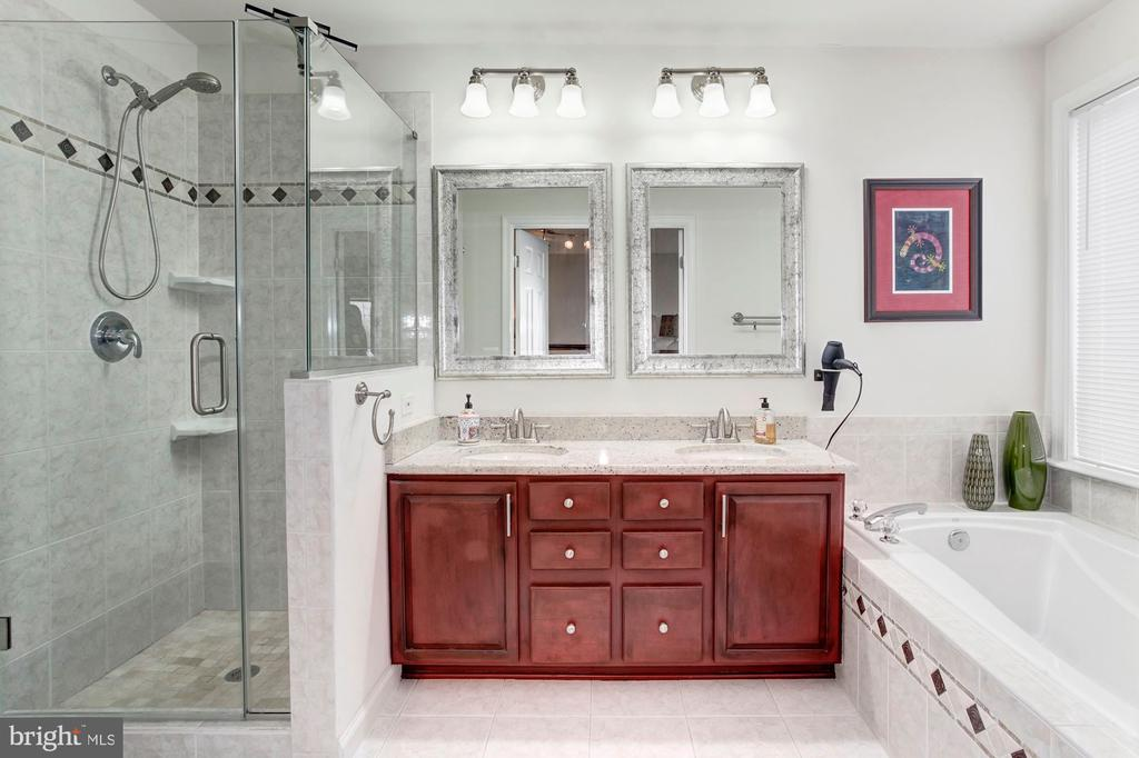 On-suite spa-like Master Bathroom - 6393 HAWK VIEW LN, ALEXANDRIA