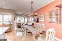 Ample room for a large table and chairs - 6393 HAWK VIEW LN, ALEXANDRIA