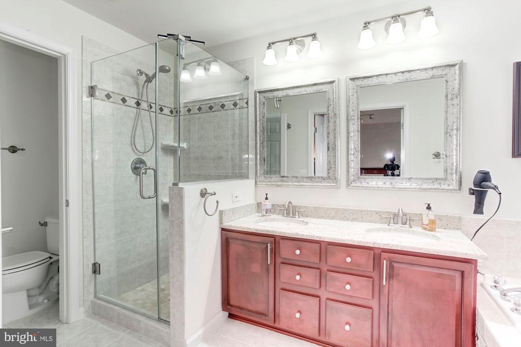 Renovated glass shower, soaking tub. Large - 6393 HAWK VIEW LN, ALEXANDRIA