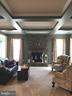 Gorgeous living room with stone fireplace. - 6 SCARLET FLAX CT, STAFFORD