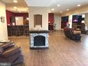 Lower level rec room fireplace. - 6 SCARLET FLAX CT, STAFFORD