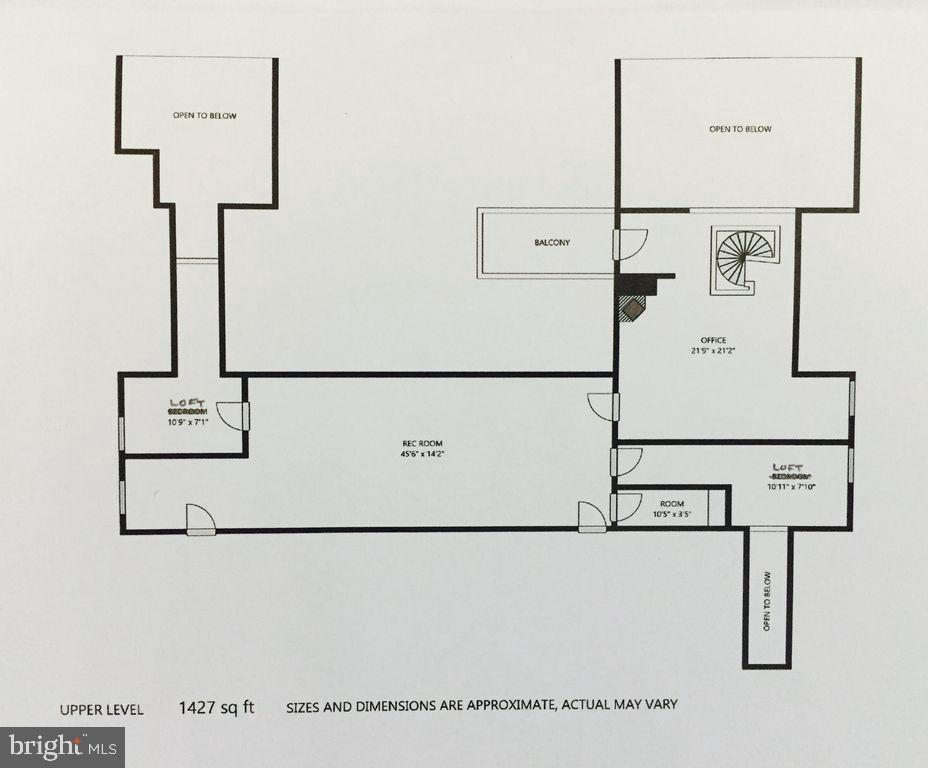 Main house upper level floor plan - 6910 SCENIC POINTE PL, MANASSAS