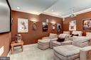 Theater room with two tier seating 7.1 surround - 6910 SCENIC POINTE PL, MANASSAS