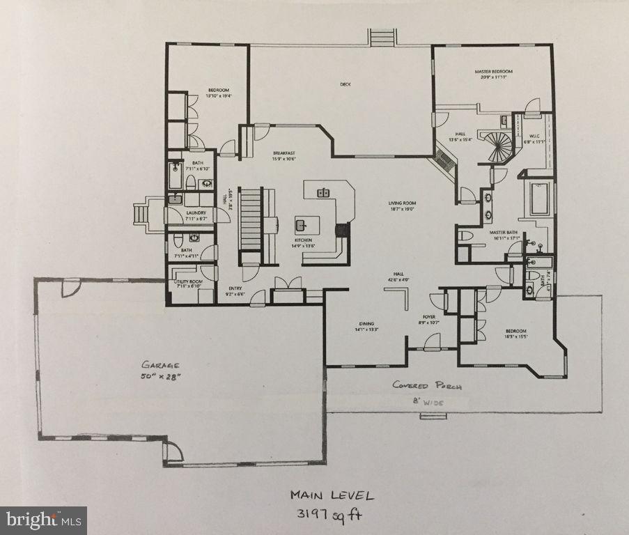 Main house ground level floor plan - 6910 SCENIC POINTE PL, MANASSAS
