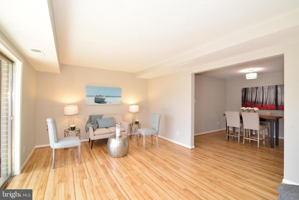 Living Room and Dining Room. - 11623 VANTAGE HILL RD #1A, RESTON