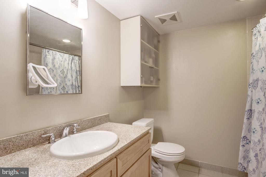 Primary bath with tub, large counter vanity. - 1150 K ST NW #309, WASHINGTON