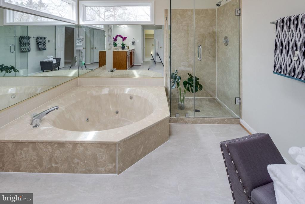 New updated /remodeled Master bath  with skylight - 6536 NOVAK WOODS CT, BURKE