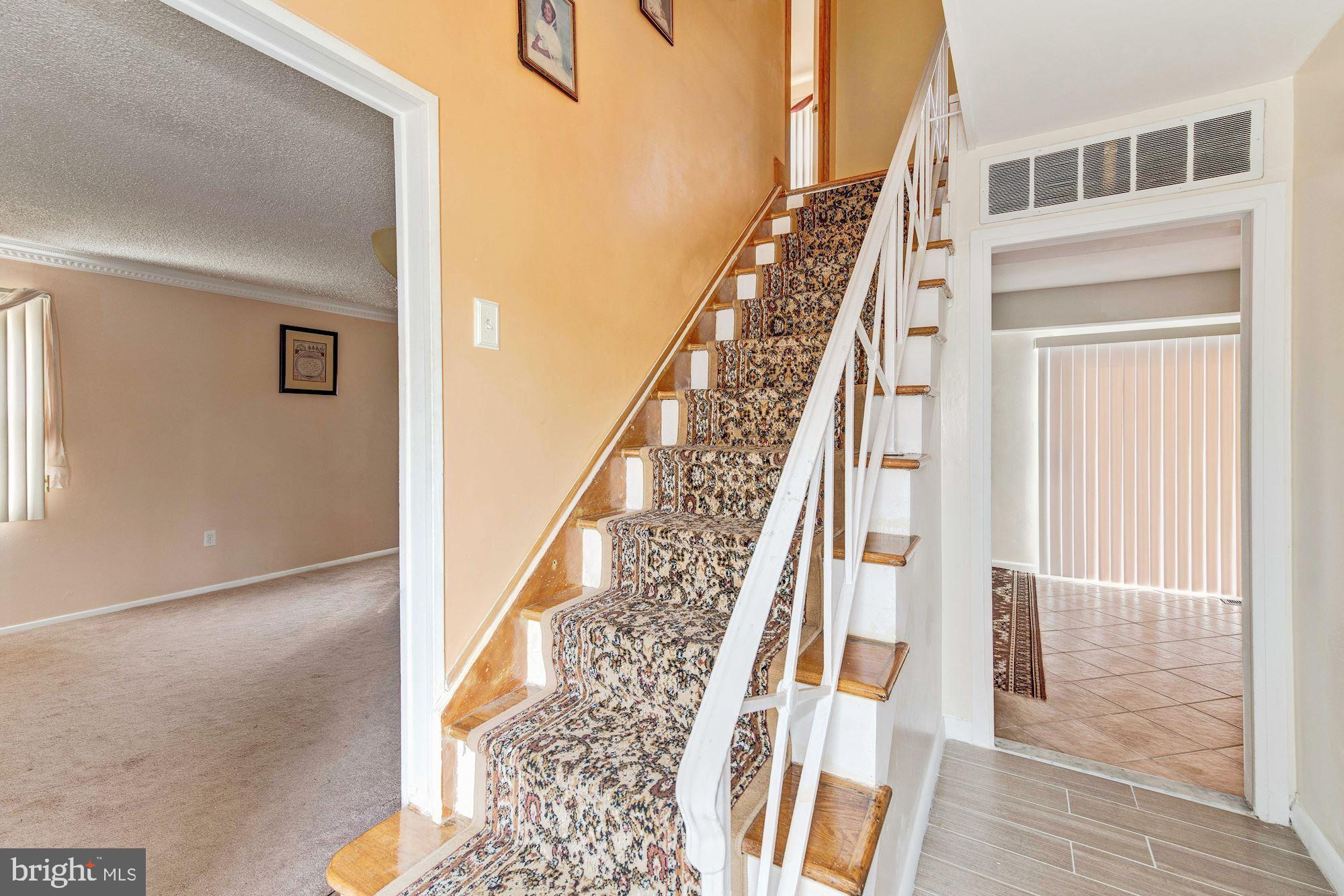 Entrance wood staircase