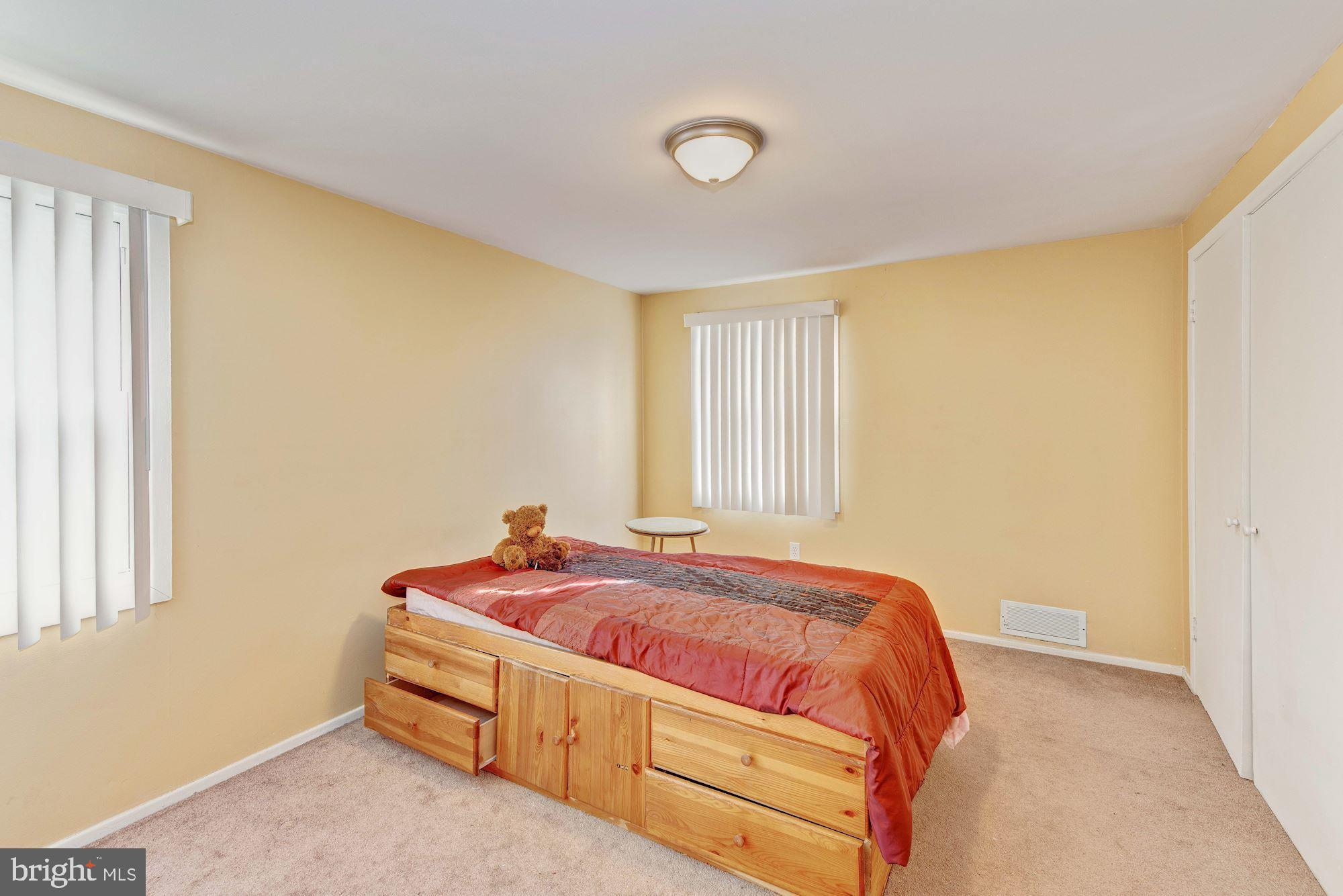 2nd bedroom with carpet