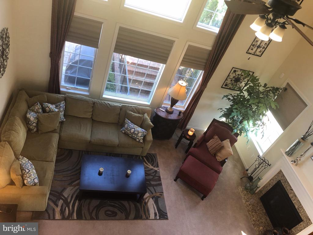 Family Room View from Loft - 4204 ROLLING PADDOCK DR, UPPER MARLBORO
