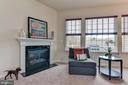 Living Room View with Fire Place - 1006 HUNTERS KNL, MYERSVILLE