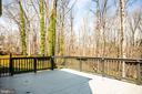 Large deck off of kitchen overlooking wooded yard - 609 LANCASTER ST, FREDERICKSBURG
