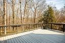 Fantastic deck and back yard area - 609 LANCASTER ST, FREDERICKSBURG