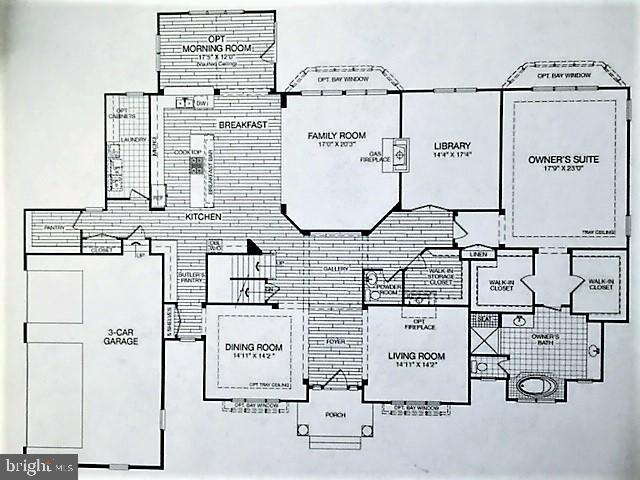 Main Level Plan and Options - 3007 WEBER PL, OAKTON
