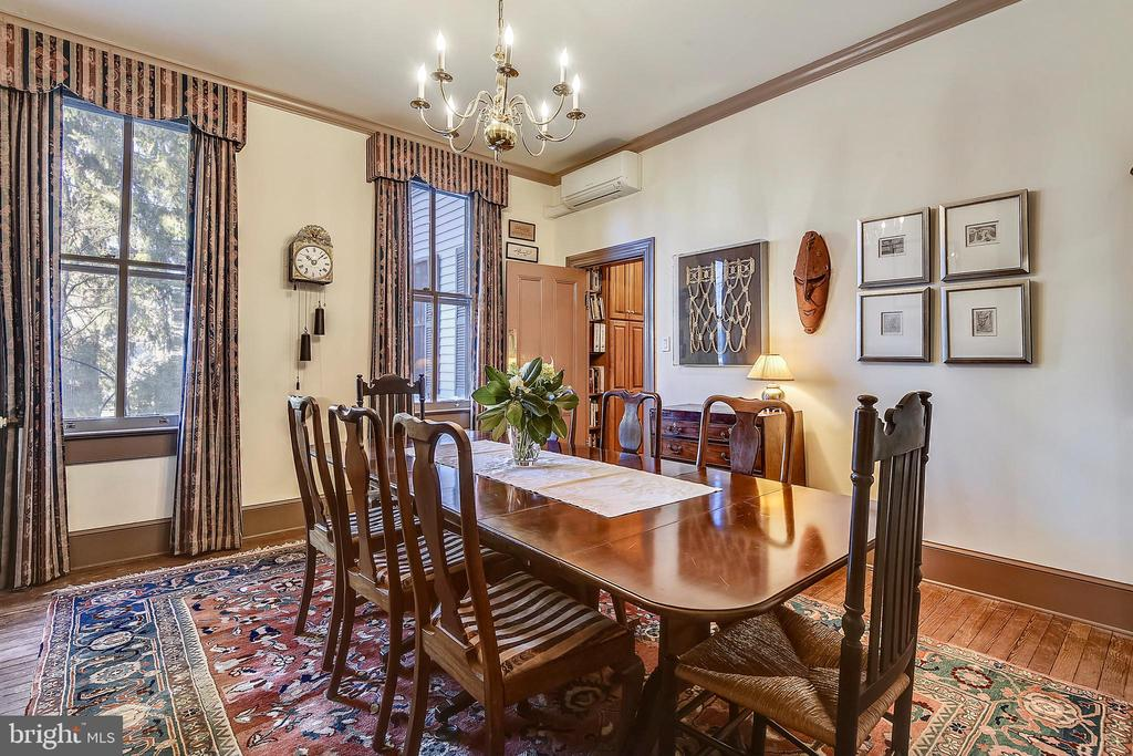 Formal Dining Room with Firepalce - 223 W MONTGOMERY AVE, ROCKVILLE
