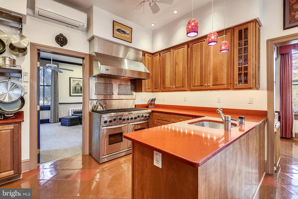Gourmet Kitchen with Gas Range with 8 Burners - 223 W MONTGOMERY AVE, ROCKVILLE