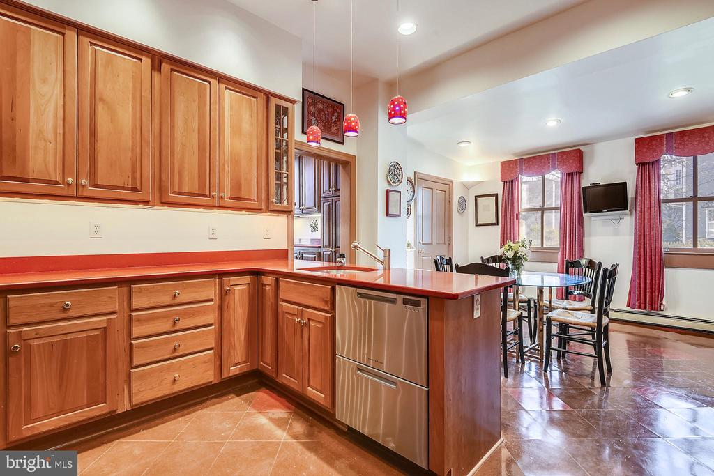 Gourmet Kitchen with Quartz Counter Tops - 223 W MONTGOMERY AVE, ROCKVILLE