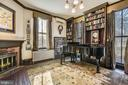 Formal Library with Fireplace - 223 W MONTGOMERY AVE, ROCKVILLE