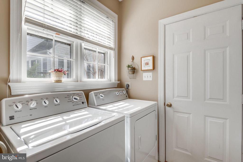 Bright and sunny laundry room - 11261 CENTER HARBOR RD, RESTON