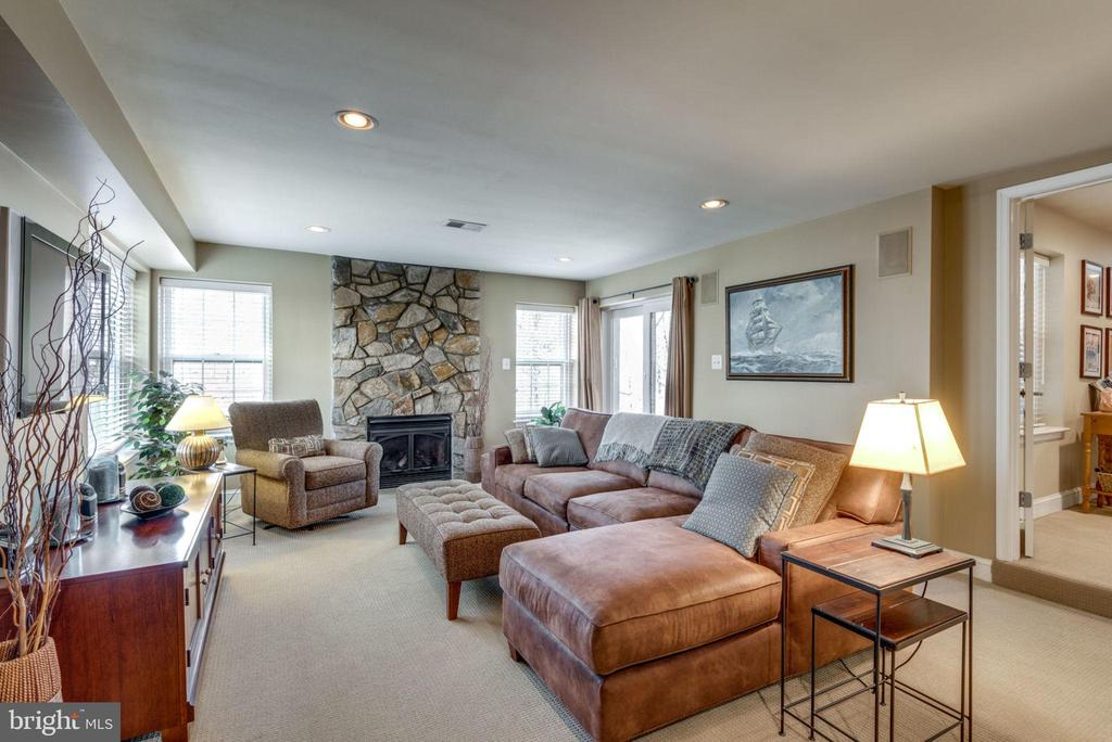 Bright and sunny lower level family room - 11261 CENTER HARBOR RD, RESTON