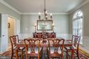 The dining room is well proportioned - 11261 CENTER HARBOR RD, RESTON