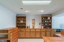 Basement with Built In Book Shelves and Cabinets - 9017 BRAEBURN DR, ANNANDALE